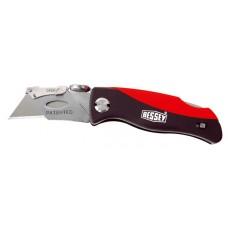 Складной нож с пластмассовой рукояткой