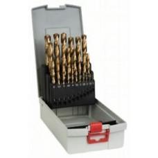 25 предм. ProBox набор сверл по металлу HSS-TiN (титановое покрытие)