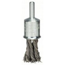 Щетка-кисточка с пучками проволоки из нержавеющей стали, 19x0,35 мм