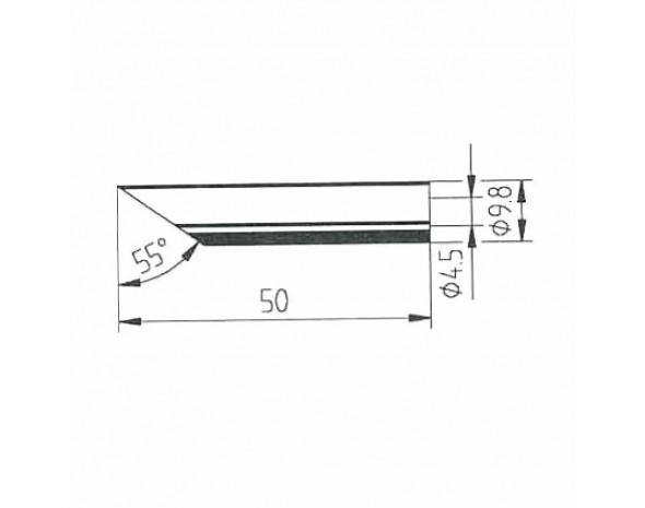 0162TD. DUR Lötspitze für Multitip C15 / Tip 260, gerade, angeschrägt oval, 10x16 mm Ersa