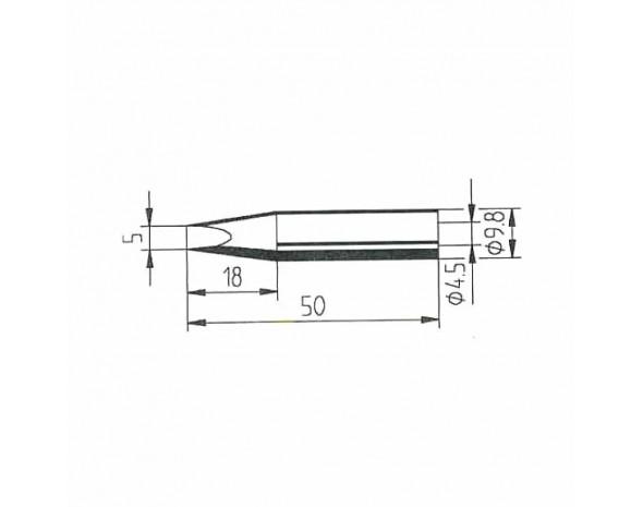 0162VD. DUR Lötspitze für Multitip C15 / Tip 260, gerade, meißelförmig, 5 mm Ersa