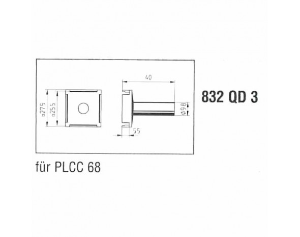 0832QD3. Lötspitze, für PLCC68 Ersa