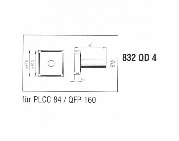 0832QD4. Lötspitze, für PLCC84 / QFP160 Ersa