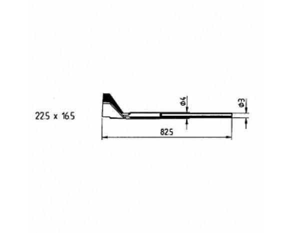 0422RD1. Auslötspitzen-Satz 22,5 x 16,5 mm für Entlöt-Pincette 40/TC 40 und Chip tool Ersa