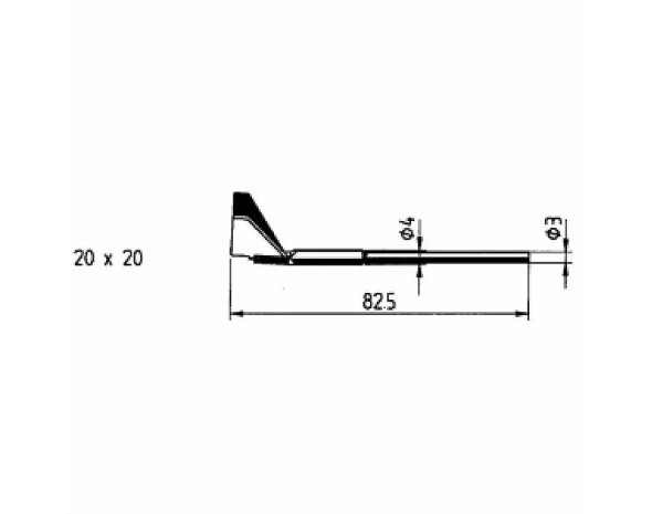 0422QD4. Auslötspitzen-Satz Q20, für PLCC 52 für Entlöt-Pincette 40/TC 40 und Chip tool Ersa