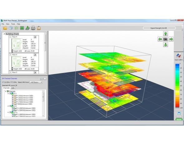 Дизайн, анализ и защита беспроводных локальных сетей Fluke Networks AirMagnet Planner