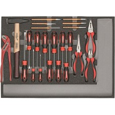 Набор инструментов отверка, клещи, молоток+зубило
