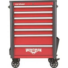 Рабочая тележка WINGMAN с 7 выдвижными ящиками, красная/антрацит