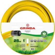"""GRINDA COMFORT 1"""", 25 м, 20 атм, трёхслойный поливочный шланг, армированный"""