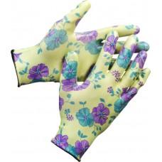 Перчатки GRINDA садовые, прозрачное нитриловое покрытие, размер L-XL, зеленые