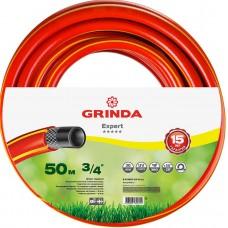 """GRINDA PROLine EXPERT 3/4"""", 50 м, 30 атм трёхслойный поливочный шланг, армированный"""