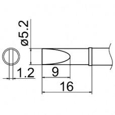 Наконечник Hakko T12-DL52