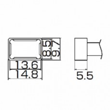 Наконечник Hakko T12-1201 Quad