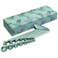Набор двусторонних накидных ключей 8 шт. HEYCO HE-00475964082