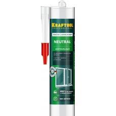 Герметик силиконовый KRAFTOOL прозрачный, нейтральный, 300мл