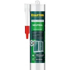 Герметик силиконовый KRAFTOOL белый, нейтральный, 300мл