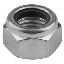 Гайка шестигранная, DIN 985, самостопорящаяся, с нейлоновым кольцом, M20, 50 шт, кл. пр. 8, оцинкованная, KRAFTOOL