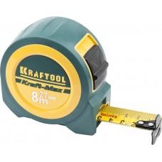 """KRAFTOOL """"Kraft-Max"""" 8м / 27мм мощная профессиональная рулетка со сверхшироким полотном"""