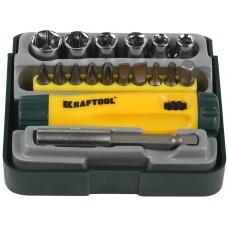 KRAFTOOL Bit-Lock-18 набор: реверсивная отвертка с насадками 18 шт