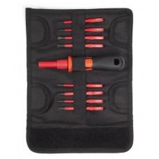 Диэлектрическая отвертка НИО-3308 с набором бит, КВТ 78280