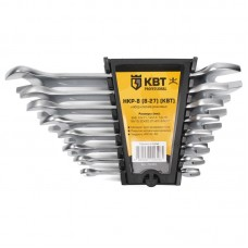 Набор гаечных рожковых ключей серии KBT-PROFESSIONAL, 8 шт., КВТ 78365