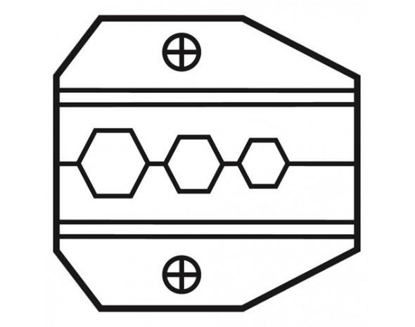 Сменная матрица для обжима коаксиальных кабелей (RG-59, RG-6, RG-8281) и разъемов F-типа категории V ProsKit 1PK-3003D10