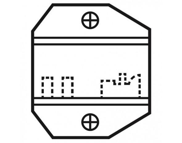 Сменная матрица для обжима коннекторов 6P2C/RJ11-RJ12 ProsKit 1PK-3003D12