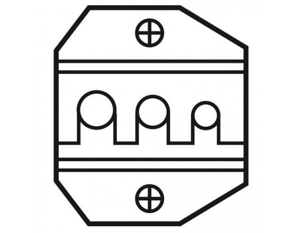 Сменная матрица для обжима коннекторов SMA и SFR.(оптоволокно) ProsKit 1PK-3003D4