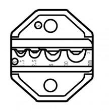Сменная матрица для обжима кольцевых и вилочных неизолированных наконечников ProsKit CP-236DN