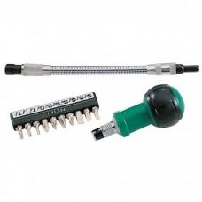 Отвертка-трещотка с битами и гибким удлинителем ProsKit 1PK-201