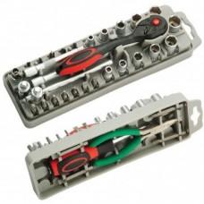 Набор насадок ProsKit SD-2308M с трещоткой и длинногубцами
