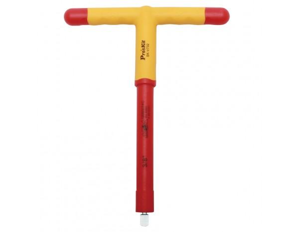 Торцевой ключ  3/8 дюйма с изолированной T-образной рукояткой ProsKit SK-V732 (1000 V)