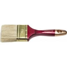 """Кисть плоская STAYER """"UNIVERSAL-PROFI"""", светлая натуральная щетина, деревянная ручка, 75мм"""