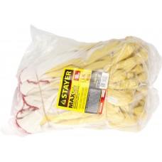 STAYER PROTECT, размер L-XL, перчатки с одинарным латексным обливом, 10 пар в упаковке, 11408-H10