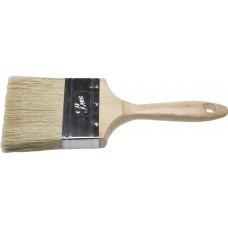 """Кисть плоская STAYER """"UNIVERSAL-LUX"""", светлая натуральная щетина, деревянная ручка, 100мм"""