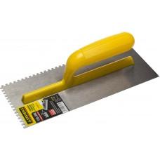 STAYER 120х280 мм, 4х4 мм, гладилка штукатурная зубчатая стальная с пластиковой ручкой