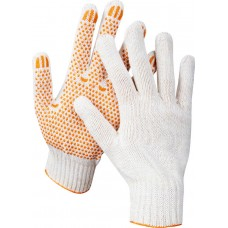 STAYER RIGID, размер L-XL, перчатки трикотажные для тяжелых работ, с ПВХ покрытием (точка), 10 пар в упаковке, 11397-H10