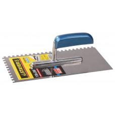 STAYER Profi 130х280 мм, 6х6 мм, гладилка штукатурная зубчатая нержавеющая с деревянной ручкой