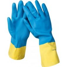 Перчатки STAYER латексные с неопреновым покрытием, экстрастойкие, с х/б напылением, размер XL
