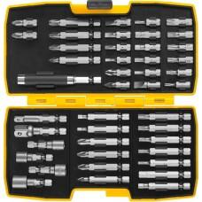 STAYER 44 предмета, в ударопрочном компактном боксе, набор бит, головок и адаптеров 26135-H44