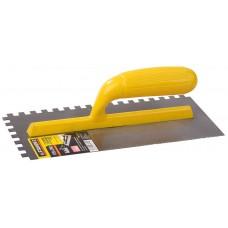 STAYER 120х280 мм, 8х8 мм, гладилка штукатурная зубчатая стальная с пластиковой ручкой