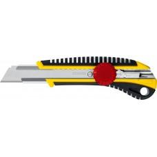Нож с винтовым фиксатором KS-18, сегмент. лезвия 18 мм, STAYER