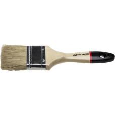 """Кисть плоская STAYER """"UNIVERSAL-EURO"""", светлая натуральная щетина, деревянная ручка, 75мм"""