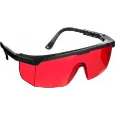 STAYER OPTIMA Красные, очки защитные открытого типа, регулируемые по длине дужки.