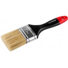 """Кисть плоская STAYER """"UNIVERSAL-PROFI"""", светлая натуральная щетина, деревянная ручка, 63мм"""