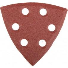 """Треугольник шлифовальный универсальный STAYER """"MASTER"""" на велкро основе, 6 отверстий, Р120, 93х93х93мм, 5шт"""