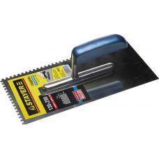 STAYER Profi 130х280 мм, 4х4 мм, гладилка штукатурная зубчатая нержавеющая с деревянной ручкой