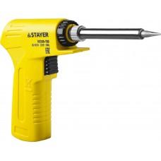 """Паяльник с пистолетной пластмассовой рукояткой, STAYER """"PROFI"""" PROTerm, 55308-130, 30 - 130 Вт, с керамическим нагревательным элементом"""