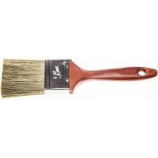 """Кисть плоская STAYER """"LASUR - LUX"""", деревянная ручка, смешанная щетина, 63мм"""