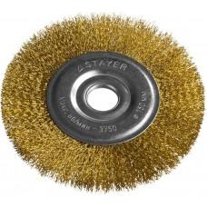 """STAYER """"PROFESSIONAL"""". Щетка дисковая для УШМ, витая стальная латунированная проволока 0,3мм, 150ммх22мм"""